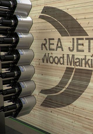 Wood printer for a stack of timber - quick access - REA JET DOD 2.0