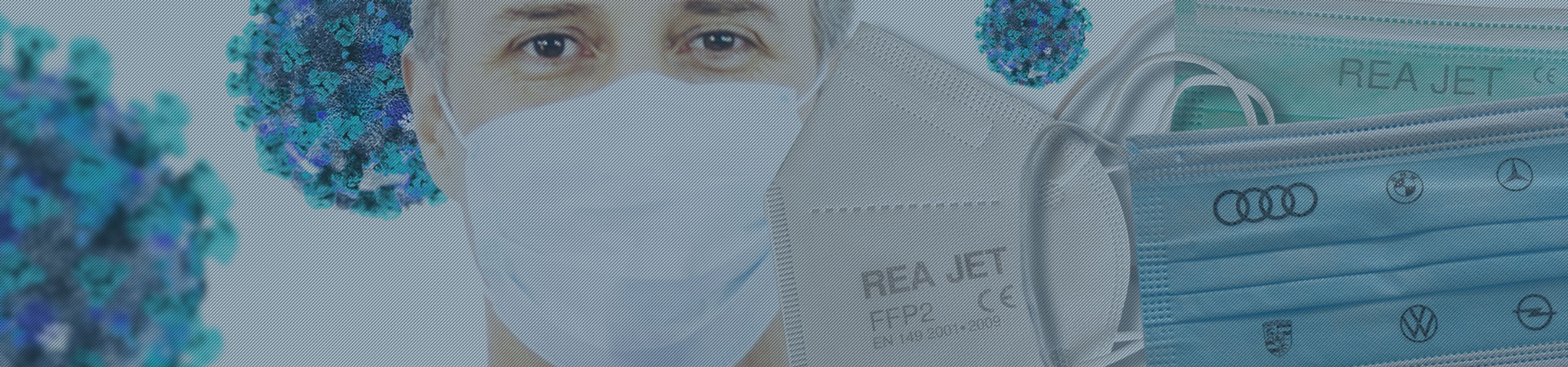 Respirator masks marking with CE marking, protection class and EU standard - REA JET HR