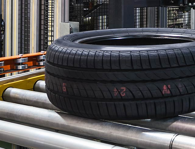 Tire print in the rubber printing industry - small size
