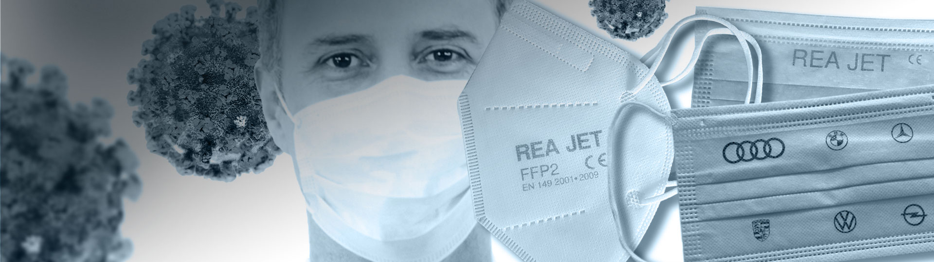 Respirator Mask Marking with REA JET HR - REA JET HR