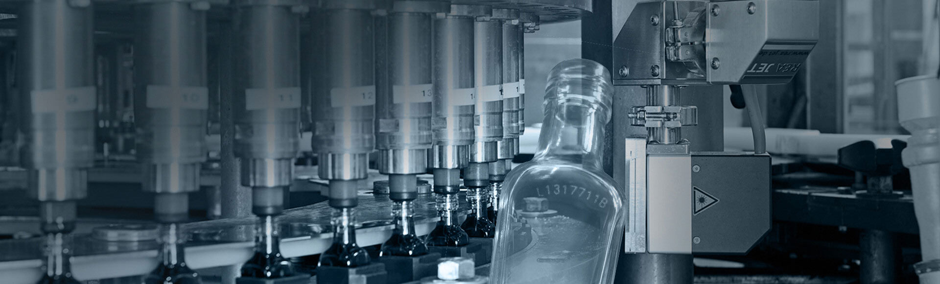 Laser marking of glass bottles - REA JET CL
