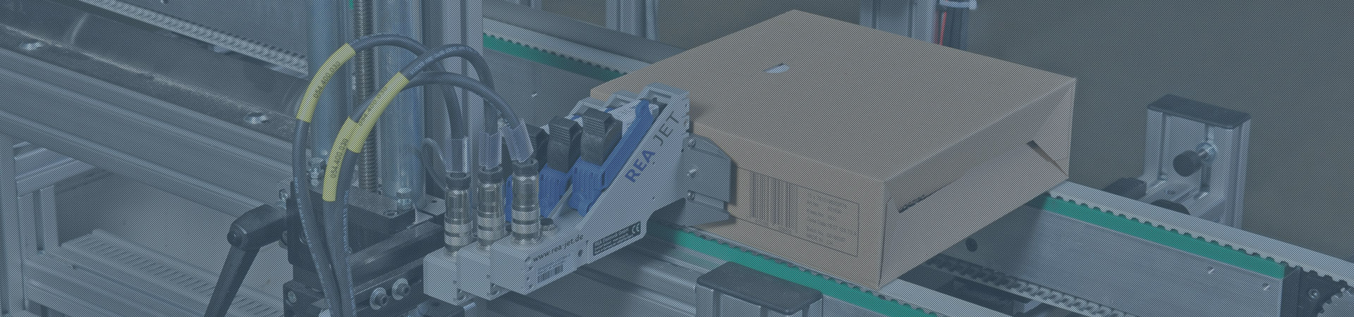 High resolution printer for marking of cardboard boxes with a barcode - Header - REA JET HR