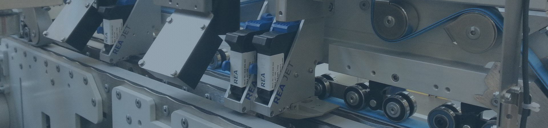 High resolution printer for marking folding boxes from above - Header - REA JET HR