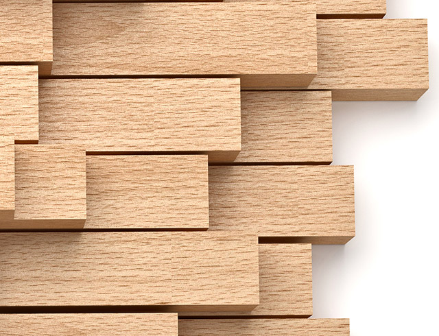 Wood print in the wood and lumber processing industry - small size