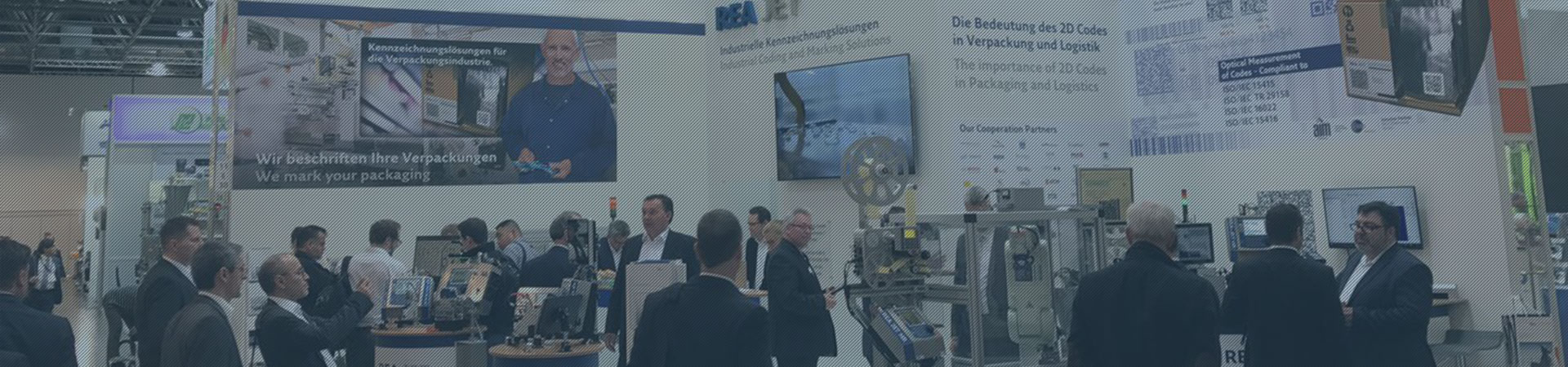 Coding and marking solutions from REA JET presented at trade shows around the world